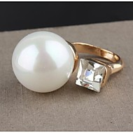 Women's Fashion Rhinestone Pearl Ring