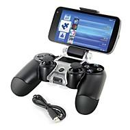 smart telefon mount beslag opbevaring indehaveren + oplader kabel til PS4 controller gamepad
