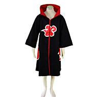 naruto akatsuki nubes rojas patrón de traje de cosplay