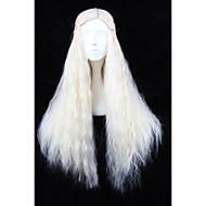 angelaicos naisten pitkät vaaleat aaltoilevat pörröinen halloween puku cosplay peruukit Game of Thrones Daenerys Targaryen