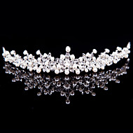 Alloy Tiaras With Imitation Pearl/Rhinestone Wedding/Party Headpiece