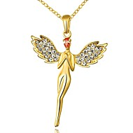 Fashion Angle Shape Alloy Pendant Rolo NecklaceRose Gold,Yellow Gold,White Gold)(1Pc)