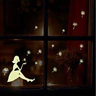 světelný environmentální odnímatelný foukání pampeliška dívka PVC značky&nálepka