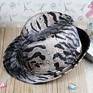Unisex Leather Fedora Hat , Vintage/Party All Seasons