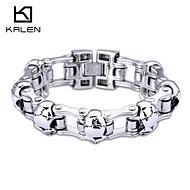 Kalen Men's Jewelry Stainless Steel Skull Bicycle Chain Bracelets