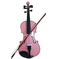 Student Acoustic Violin Full 3/4 Maple Spruce with Case Bow Rosin Pink Color