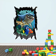 3D Wall Stickers Wall Decals, Shark PVC Wall Stickers
