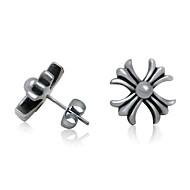 Men's Titanium Cross Earrings One Pcs