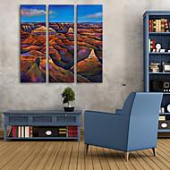 e-Home® venytetty kankaalle art väri kukkula koristemaalausta sarja 3