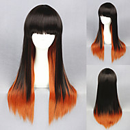 26inch длинную прямую цвет, смешанный красивый аниме Лолита парик