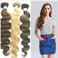 1kpl / paljon 24inch / 60cm 150cm leveä 100g / pakkaus multicolors kehon aalto hiuksista kude pidennys grade5a hiuksista laajentaminen