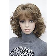 """muoti lyhyt 14 """"kihara naisten synteettiset naisten täysi peruukki"""