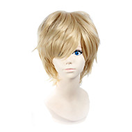 Angelaicos Men MekakuCity Actors Kagerou Project Kano Syuya Boy Blonde Layered Short Halloween Costume Cosplay Wig