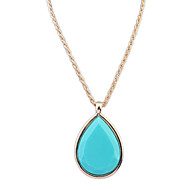 Women's European Style Fashion Simple Drops Necklace