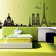 Wall Stickers Wall Decals, City Tower Silhouette PVC Wall Stickers