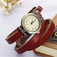 Women's Fashion Watch Wrist watch Bracelet Watch Quartz Leather Band Blue Red Brown Brand