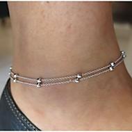 Beads Anklet Bracelet Foot Beach Jewelry (Silver,1 pcs)