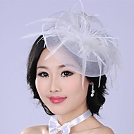 Luxurious Fashion  Simulation Flower Mesh  Pearl  Bridal Headpiece