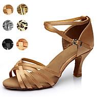 Chaussures de danse (Noir/Marron/Argent/Or/Leopard/Autre) - Personnalisable - Talons personnalisés - Satin/Similicuir - Danse latine