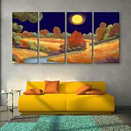 e-HOME lona envuelta arte del color del desierto Conjunto de la decoración de pintura de 4