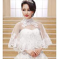 Wraps casamento ( Marfim ) - Renda/Tule - Sem Mangas