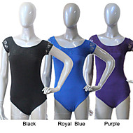 Cotton/Lycra  Short Sleeve Leotard with Lace More Colors for Girls and Ladies