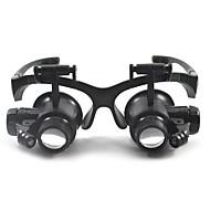 משקפת / זכוכית מגדלת Generic / אוזניות 10X /20X 15mm נורמלי פלסטיק