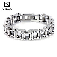 Kalen Men's Jewelry Stainless Steel Bicycle Chain Bracelets