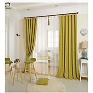 1つのパネルの緑色の固体リネンコットンブレンドパネルカーテン