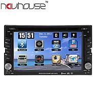 6.2 polegadas TFT 2 din carro dvd player in-dash com GPS de navegação-prontos, RDS, bluetooth, tv, ipod-entrada