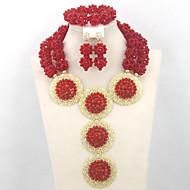 Gorgeous Bridal Crystal Jewelry Set Nigerian Wedding Fashion Jewelry Set 2015 New