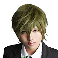 Angelaicos Men Free! Makoto Tachibana Short Dark Green Layered Halloween Boy Anime Costume Party Cosplay Full Wig