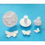 Four-C cortadores grande borboleta de plástico bolo fondant de êmbolo, de alta qualidade ferramentas de decoração do bolo definido