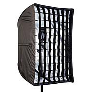 80x120cm / 32in x 47in paraplu softbox met grid voor Speedlight / flash