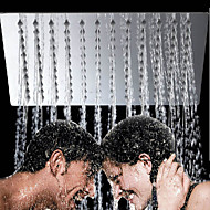 10 inch Contemporary Fashion Ultrathin 304 Stainless Steel Square Shower Head - Silver