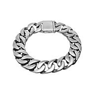 Men's Titanium Solid Character Polishing Bracelet