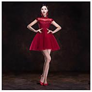 Dress A-line High Neck Short/Mini Tulle Dress