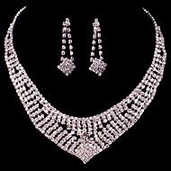Luxurious Women's/Ladies' Alloy Wedding/Party Jewelry Set With Rhinestone