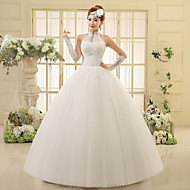 Ball Gown Floor-length Wedding Dress -Halter Organza
