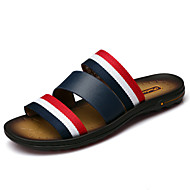 Men's Slippers & Flip-Flops Spring Summer Fall Comfort Cowhide Outdoor Office & Career Dress Casual Black Water Shoes
