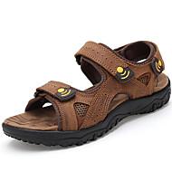 Men's Shoes Casual Calf Hair Sandals Brown/Khaki