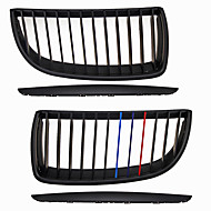 M-Color Matte Black Grille Grill Kidney For BMW E90 E91 3 Series M3 05-08