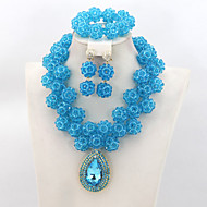 Modest Crystal Beads Balls Jewelry Set Nigerian Wedding Jewelry Set African Beads Necklace Set
