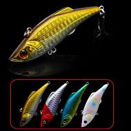 """רטט / פתיונות דיג רעידה 2 יח ' , 13 g / 1/2 אונקיה mm / 3"""" אינץ ' לבן / זהב / אדום / כחול פלסטיק קשיחדיג בים / דייג במים מתוקים / דיג"""