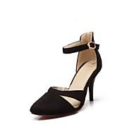 Women's Shoes Faux Suede Stiletto Heel Pointed Toe Pumps/Heels Dress Black/Blue/Red