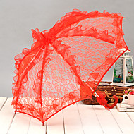 Small Lace Manual Opening Wedding Umbrella Bridal Parasol Accessories For Wedding Bridal Shower Umbrella(More Colors)