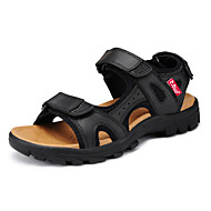 Men's Shoes Outdoor Leather Sandals Black/White/Khaki