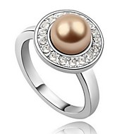 Women's Alloy Ring With Pearl/Rhinestone(More Color)