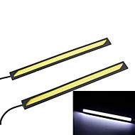3W High Power COB 6000K White Light LED Car Daytime Running Light