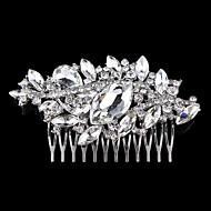 Capacete Pentes de Cabelo Casamento/Ocasião Especial Liga Mulheres/Menina das Flores Casamento/Ocasião Especial 1 Peça